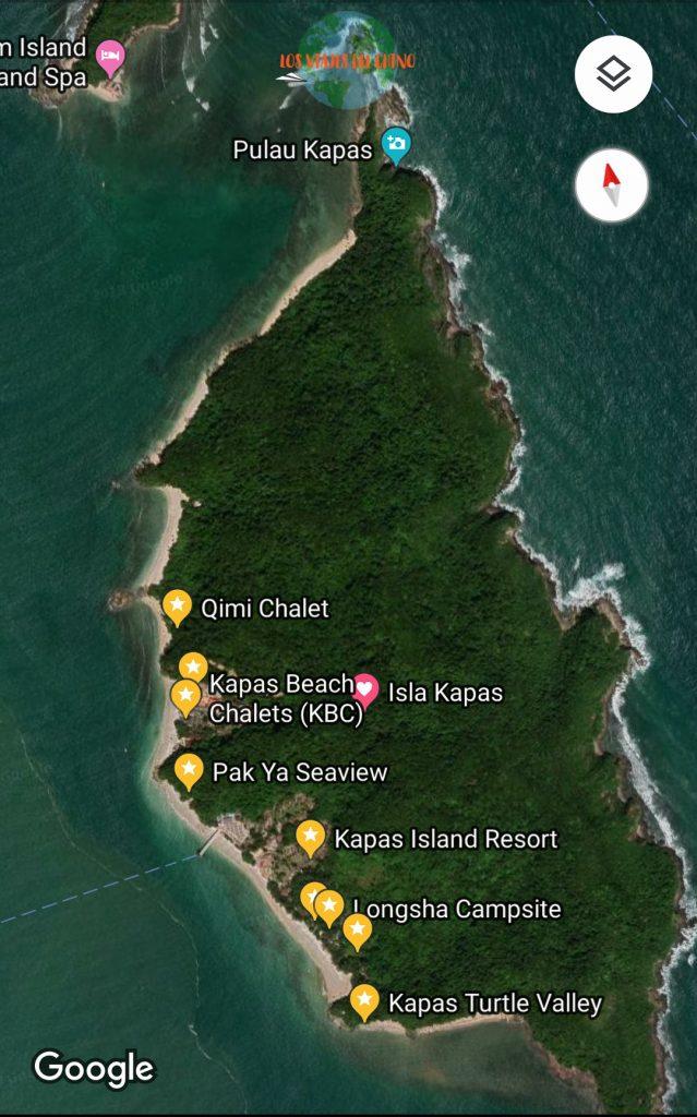 mapa de Pulau Kapas