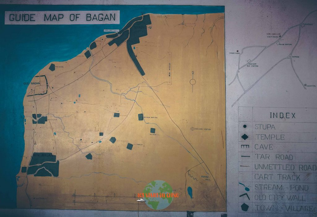 mapa de Bagan